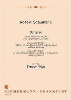 Schumann, Robert - Scherzo of the 2nd Symphony C major for 5 flutes (Zimmerman)