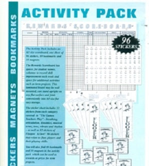 Haldane, Rosemary - Activity Pack Flute - Scoreboard Stickers