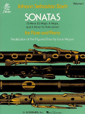Bach Sonatas Vol. 1 for Flute and Piano (Schrimer)