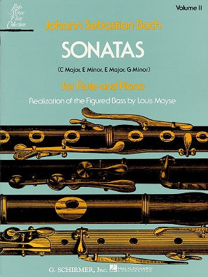 Bach Sonatas Vol. 2 for Flute and Piano (Schrimer)