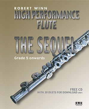 Winn , Robert  - High Performance Flute - The Sequel (Book + Insert with CD)