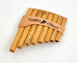 Roumaines (Curved) Cane Panpipe with 8 pipes.