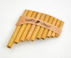 Roumaines (Curved) Cane Panpipe with 10 pipes
