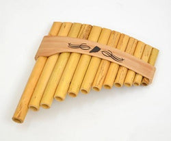 Roumaines (Curved) Cane Panpipe with 12 pipes