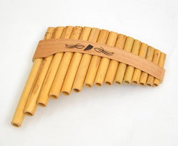 Roumaines (Curved) Cane Panpipe with 15 pipes