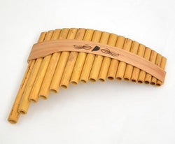 Roumaines (Curved) Cane Panpipe with 18 pipes