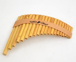 Roumaines (Curved) Cane Panpipe with 20 pipes