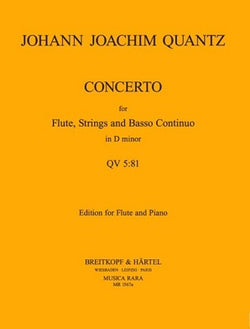 Quantz - Concerto in D minor QV5:81 (Breitkopft)
