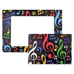 Music notes magnetic frame