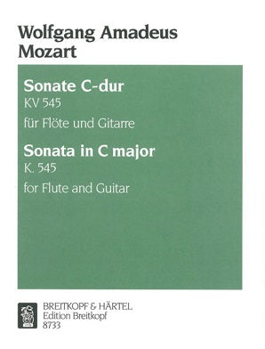 "Mozart, Wolfgang Amadeus - Sonata ""facile"" in C major K. 545 for flute and guitar"