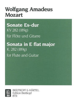 Mozart, Wolfgang Amadeus - Sonata in Eb major K. 282 for flute and guitar