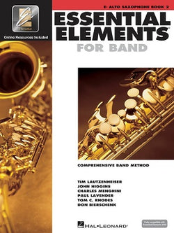 Essential Elements for Band - Book 2 with EEi Eb Alto Saxophone