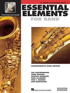Essential Elements for Band - Book 2 with EEi Bb Tenor Saxophone