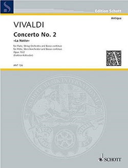 "Vivaldi - Concerto No. 2 G minor ""La Notte"" for flute and strings (Score/Harpsichord,Violin 1,2, Viola, Cello/bass"