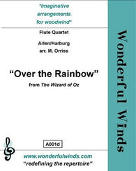 Arlen/Orriss - Over the rainbow flute quartet (WW)