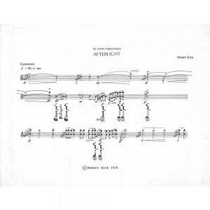 Dick, Robert - Afterlight (1973, revised 1984) Solo Flute