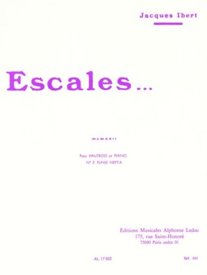 Ibert, Jacques - Escales Oboe/Piano
