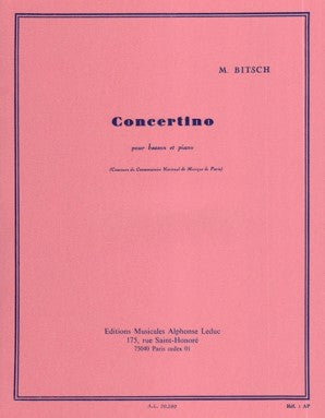 Bitsch, Marcel - Concertino for Bassoon and Piano