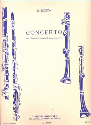 Bozza, E - Concerto for Clarinet and Chamber Orchestra or Piano