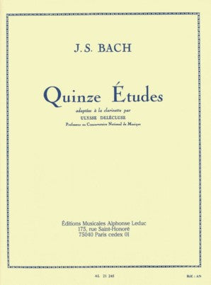Bach, J.S - 15 Etudes after J.S. Bach for Clarinet