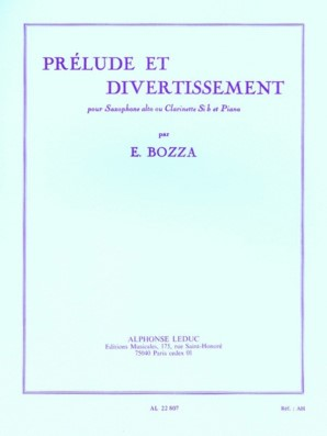 Bozza, E - Prelude et Divertissement