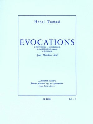 Tomasi, Henri - Evocations For Oboe