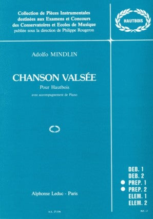 Mindlin, Adolfo - Chanson Valsee for Oboe and Piano
