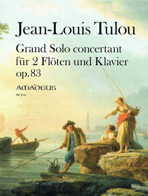 Tulou, Jean-Louis - Grand Solo Concertante for 2 flutes and piano Op. 83 (Amadeus)