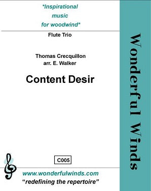 Crecquillon: Content Desir for three flutes