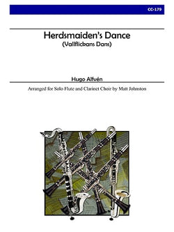Alfven, Hugo -Herdsmaiden's Dance for Solo Flute and Clarinet Choir