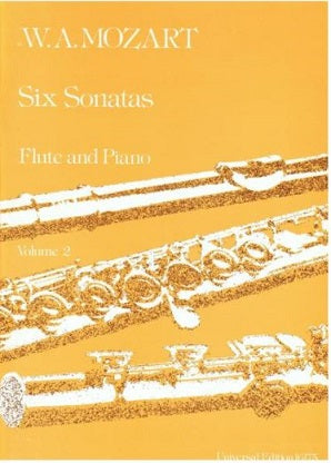 Mozart W,A -  Six Sonatas for Flute and Piano Volume 2