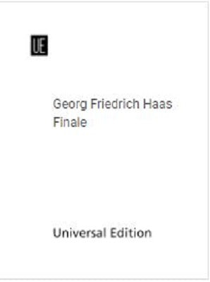 Haas Georg Friedrich -  Finale for Flute