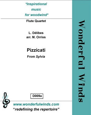 Delibes - Pizzicatai (Sylvia) for quartet