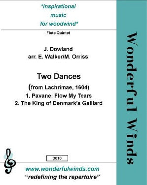 Dowland, J. Two Dances From Lachrimae, 1604 for flute quintet