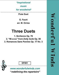 Faure - Three Duets (WW)