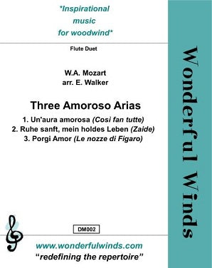 Mozart  - Three Amoroso Arias for two flutes