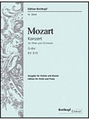 Mozart, WA -Concerto for Flute and Orchestra G major K. 313 (Breitkopf)