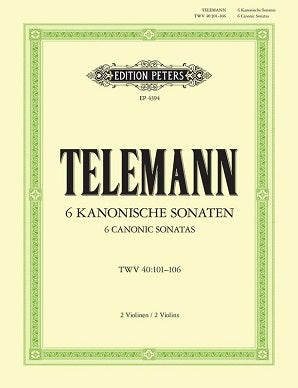 Telemann - Canonic Studies for 2 Flutes (Edition Peters)