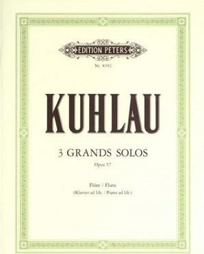 Kuhlau, Friedrich - 3 Grand Solos Op. 57 for flute solo (Peters)