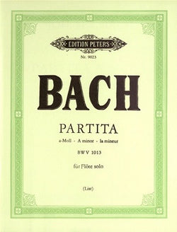 Bach, JS - Partita in A minor BWV 1013 for Solo Flute (Peters)