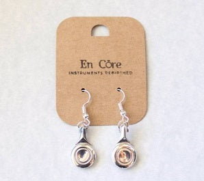 "EN CORE - 'The Classic Flautist ""Hand Crafted Flute Key Earrings"""