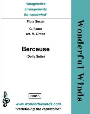 Faure - Berceuse from the dolly suite - for flute choir