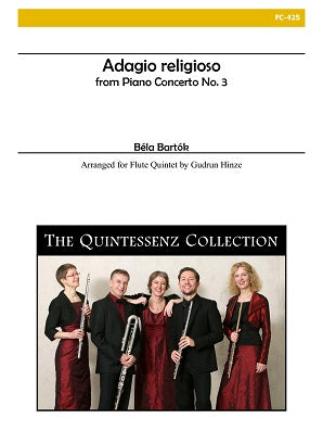 Bartok, Bela - Adagio religioso from Piano Concerto No. 3 for Flute Quintet