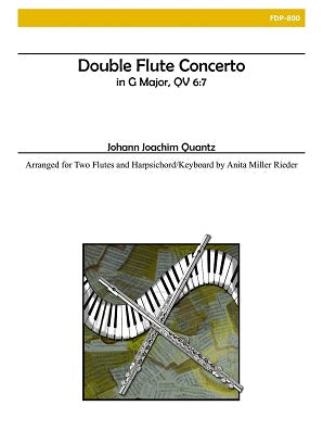 Quantz - Double Flute Concerto in G Major (Two Flutes and Piano)