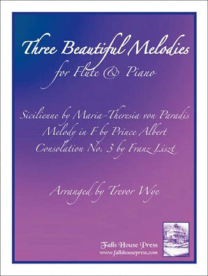 Three Beautiful Melodies For Flute & Piano (Edited by Trevor Wye)