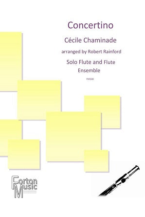 Chaminade, C: Concertino for solo flute and flute ensemble