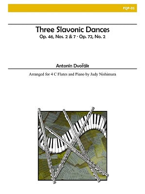 Dvorak (arr. Nishimura) - Three Slavonic Dances - 4 C flutes and piano
