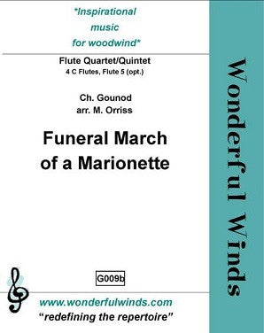 Gounod - Funeral March of a Marionette - Quartet or Quintet
