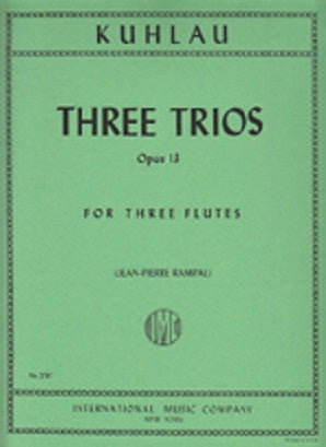 Kuhlau, F -  3 trios for 3 flutes Op13 (IMC)