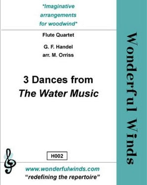 Handel: 3 Dances from The Water Music Suite for flute quartet